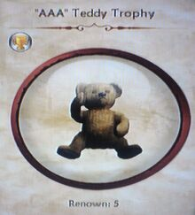 """AAA"" Teddy Trophy"