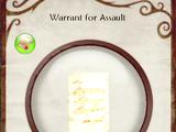 Warrant for Assault