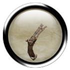 Rusty flintlock pistol
