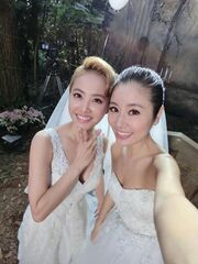 Jolin Tsai and Ruby Lin