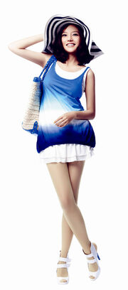 Zhao Wei Blue and White Fashion