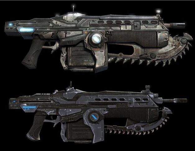 gow-1-2-lancer weapons in gaming from Gears of War