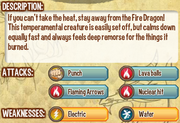 Fire dragon info