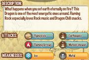 Flaming rock dragon info