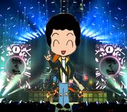 Rocker-Me at Rock-Train concert leveled - Now Balrog of Moria concert - cropified