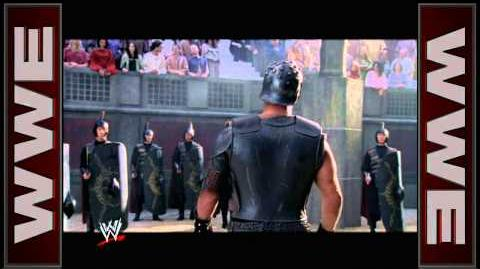 """Stone Cold"" Steve Austin does his best ""Gladiator"" impersonation WrestleMania 21"