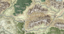 Rauvin river map
