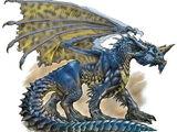 Blaue Drachen