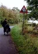 Gefahren am Weserradweg