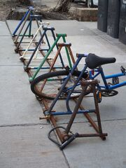 Bike rack in Minneapolis