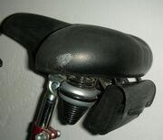 Fahrradsattel mit Satteltasche