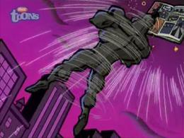 Nega Chin is sucked into the comic book