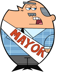 The Mayor of Dimmsdale Stock Image