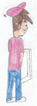 Timmy Turner (Grown Up, an Adult) Peeing at a Urinal