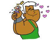 Jorgen hug Binky by Cookie Lovey