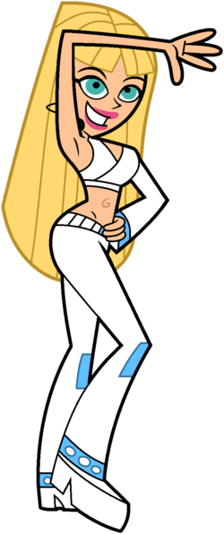 Britney Britney Blue Attire Stock Image