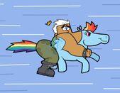Jorgen vs rainbow dash by cookie lovey-d4o8kqe