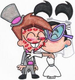 Tootie kissing her groom by nintendomaximus-d3lg0lm