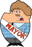 The Mayor of Dimmsdale 70's Stock Image