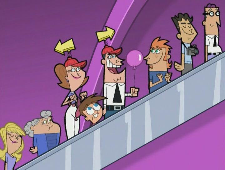 """Maar toen zag je ineens """"Roltrappenland"""" bij Fairly OddParents op Nickelodeon"""