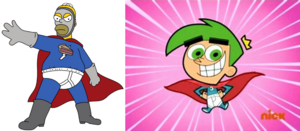 Pie Man and Super Not Cosmo