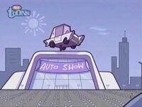 Dimmsdale auto show building