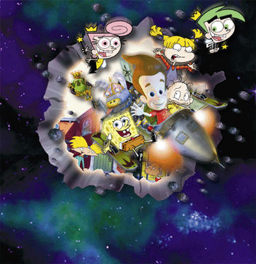 Universal Studios Jimmy Neutron's Nicktoon Blast Character Poster