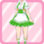 RDS Ruffle Waitress green