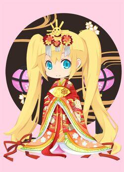 Gold Brocade Ceremonial Kimono outfit