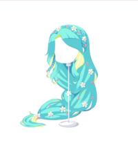 FloralExtraLongTwoTonedemeraldgreenyellowishgreen