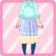 LE Chiffon Maxi Dress Knit Poncho ice blue