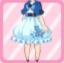 FFG Short Sleeved Sakura Poncho sky blue