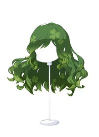HAIR WindblownWavesCloverGreen