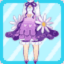 FFG Fluffy Bud Dress purple