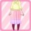 LE Chiffon Maxi Dress Knit Poncho lemon