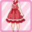 LE Retro Jumper Skirt red