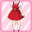 SFG Jumper Skirt red