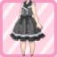 LE Retro Jumper Skirt black
