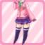 LE School Cardigan pink