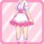 RDS Ruffle Waitress pink