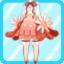FFG Fluffy Bud Dress red