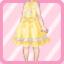 LE Retro Jumper Skirt yellow