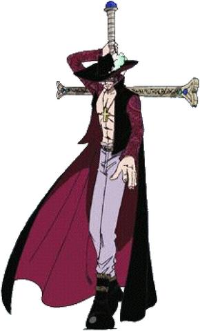 File:Mihawk Dracule Anime Pre Timeskip Full Body.png