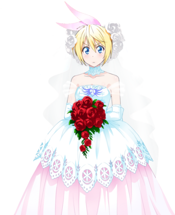 Nisekoi chitoge wedding dress render 2 by sharknex-d86wkjr