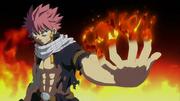 Natsu, seul, défie les Dragons Jumeaux