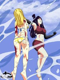 Lucy vs minerva by kurotsuchi 666-d57bfac