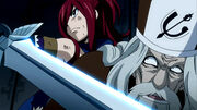 Erza prend Faust en otage