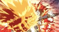 Natsu se fait attaquer par un poing de feu