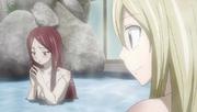 Lucy proposant à Frea de rejoindre Fairy Tail