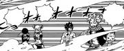 Natsu, Happy, Lucy et Jubia tremblent de froid
